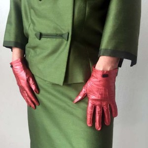 60s ladies suit Hong kong Olive green-the remix vintage fashion