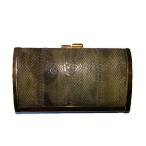 Clemente Eelskin Clutch Bag-the remix vintage fashion