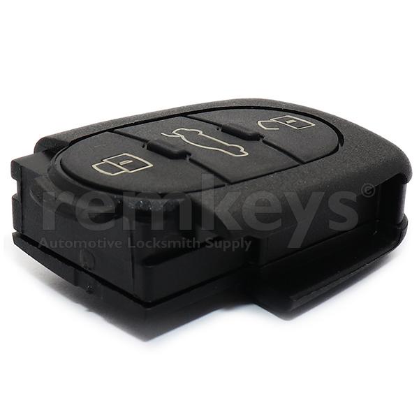 Audi 3Btn Remote Case (Round) - Big Battery
