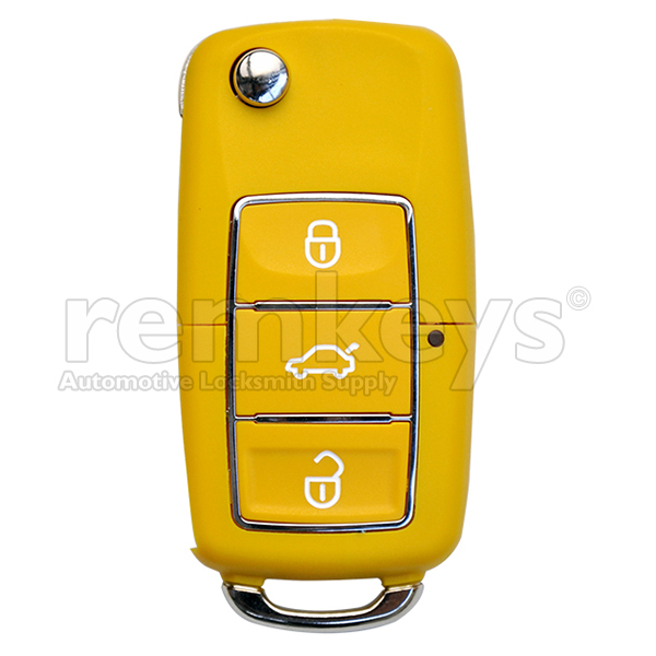 B01 - Yellow - VW Type 3 Button Flip
