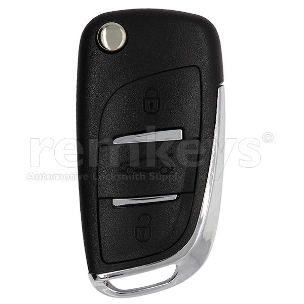 Citroen New C4 3Btn Flip Remote Case
