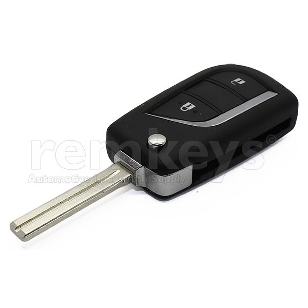 Hilux 2Btn Flip Remote ID74 433mhz OEM BA2TA