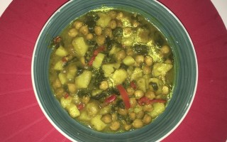 deliciosa receta de garbanzos con espinacas al curry