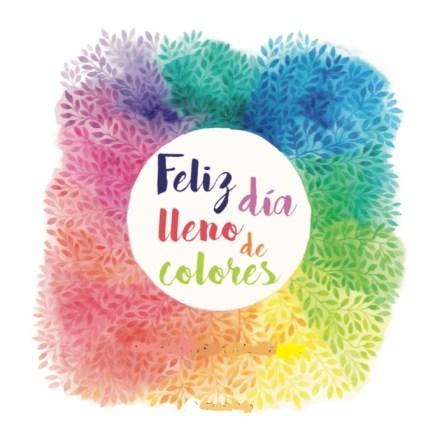 libro feliz día lleno de colores
