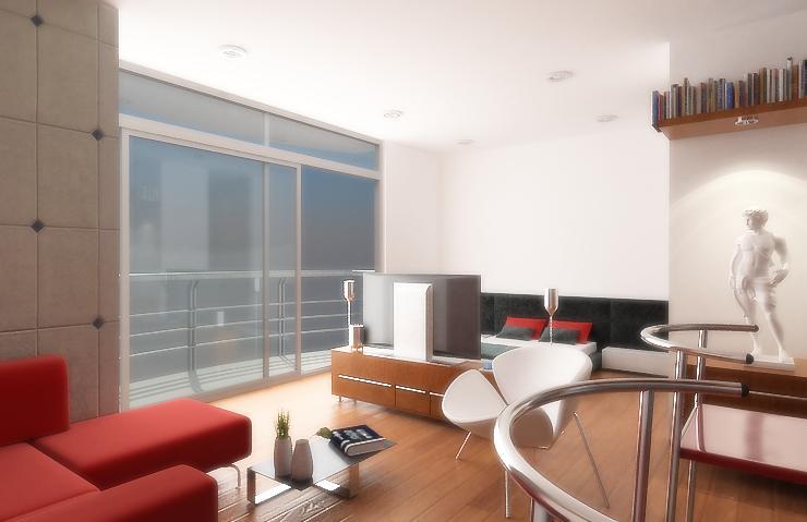 Diseño de apartamentos pequeños, tipo estudio, modernos (3/5)
