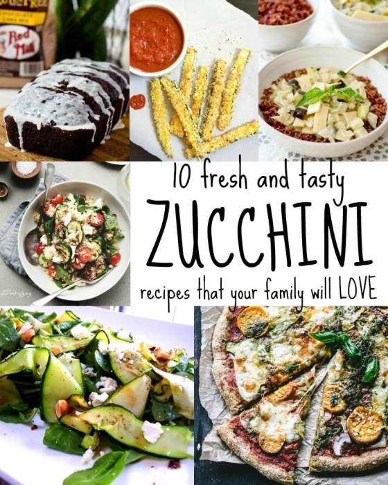 Ten Zucchini Recipes Your Family Will Love via Tipsaholic.com