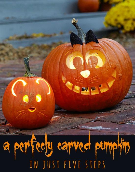 5 Pumpkin Carving Tips for a Perfect Jack-O-Lantern via Tipsaholic.com