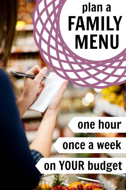 Family Menu Planning -- 1 Hour, Once A Week, On A Budget via Tipsaholic.com