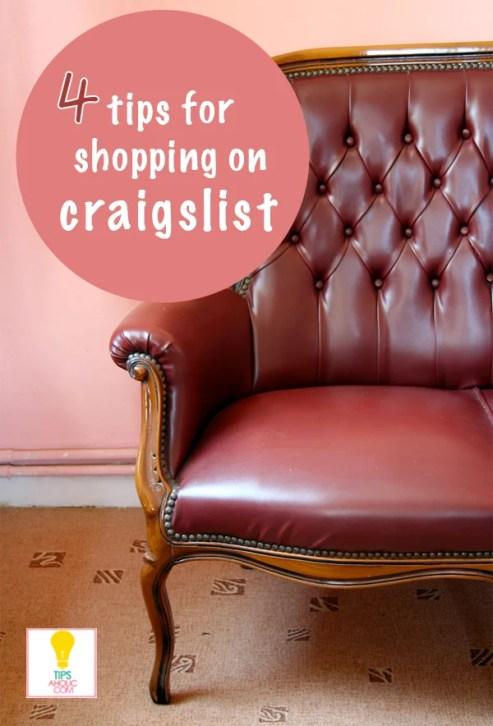 Tipsaholic - 4 tips for shopping on Craigslist