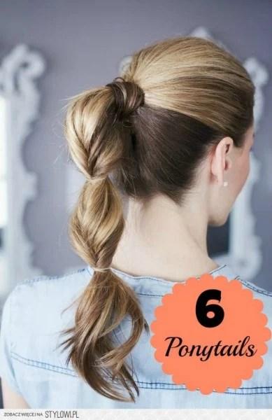 6 Simple Ponytails ~ Tipsaholic.com