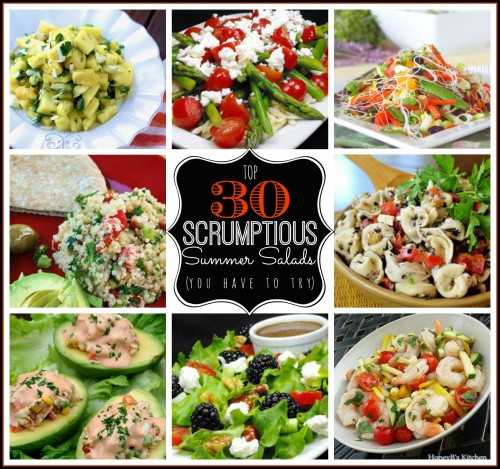 Top 30 Scrumptious Summer Salads | Tipsaholic.com #recipe #cooking #salad #summer #food