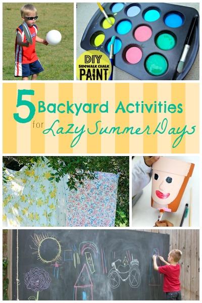 5 Backyard Activities for Lazy Summer Days | Tipsaholic.com #outdoor #fun #kids #games #summer #backyard