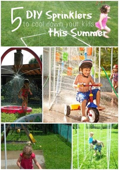 5 DIY Sprinklers to Cool Down Your Kids This Summer   Tipsaholic.com #water #kids #diy #backyard #pvc #sprinkler
