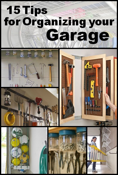 15 Tips for Organizing Your Garage | Tipsaholic.com #home #organization #garage #storage #solutions #cleaning