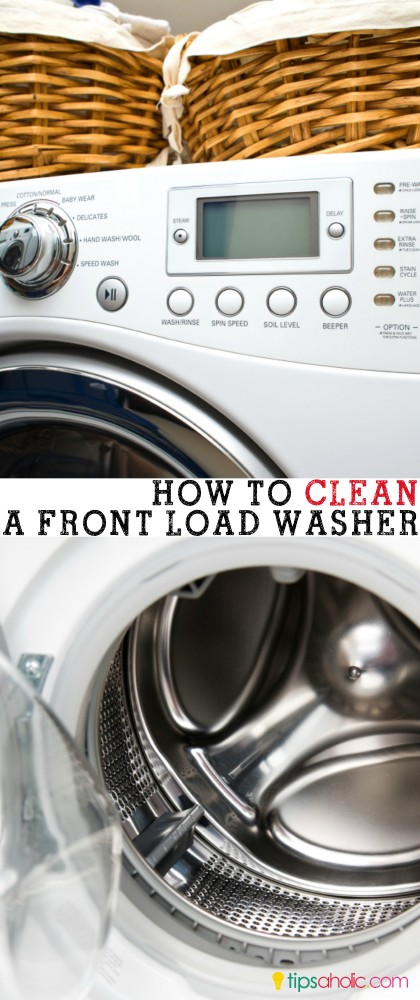 How to clean a front load washer @tipsaholic #clean #washingmachine #frontload