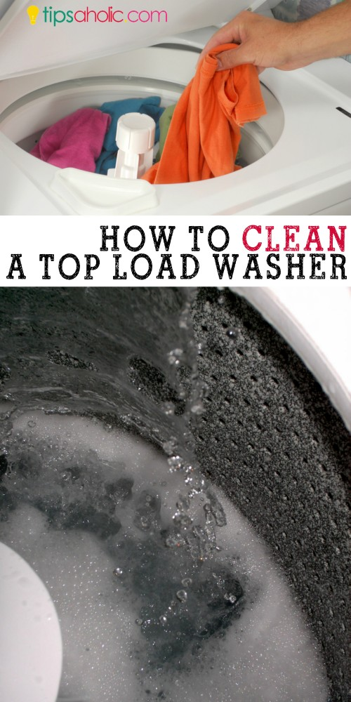 How to clean a top load washer @tipsaholic #clean #washingmachine #topload