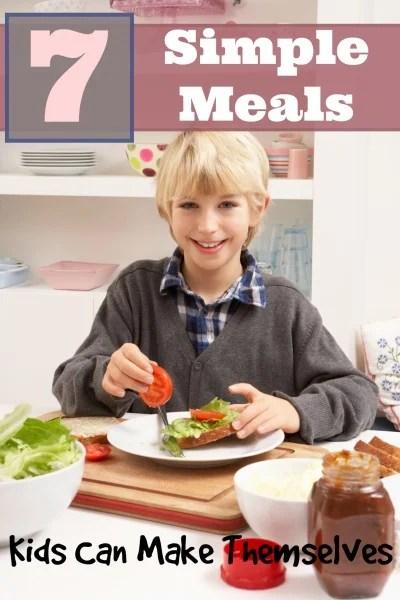 7 Simple Meals Kids Can Make Themselves ~ Tipsaholic.com #kidfood #kidscooking #kidrecipes
