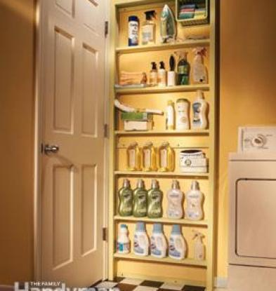 behind door storage