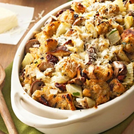Thanksgiving has special types of food that most people eat, but there are lots of different ways to prepare each dish. Stuffing is a Thanksgiving staple. Try one of these 10 Unique Stuffing Recipes for Thanksgiving - Tipsaholic.com #stuffing #recipes #thanksgiving