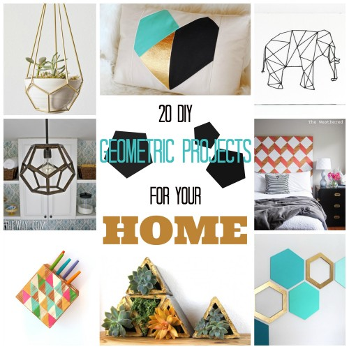 20 DIY Geometric Projects for Your Home ~ Tipsaholic.com #geometric #decorating