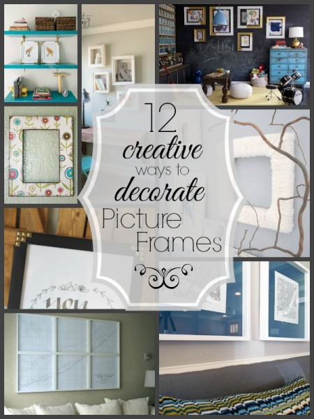 12 Creative Ways To Decorate Picture Frames   Tipsaholic.com #diy #home #