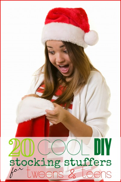 Find the perfect stocking stuffers for teens and tweens without breaking the bank. Plus some are ones you can make yourself. 20 Cool DIY Stocking Stuffers for Tweens & Teens - Tipsaholic, #stockingstuffer, #Christmas, #gifts, #DIY, #tweens, #teens