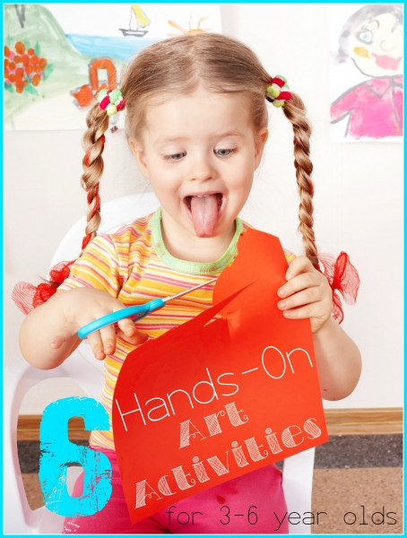 Art education is crucial to emotional, mental, and physical development. Supplement your preschooler's art education with these fun hands-on art activities! 6 Hands-On Art Activities for 3-6 Year Olds - Tipsaholic, #art, #kids, #preschool, #homeschool, #preschoolactivities, #painting