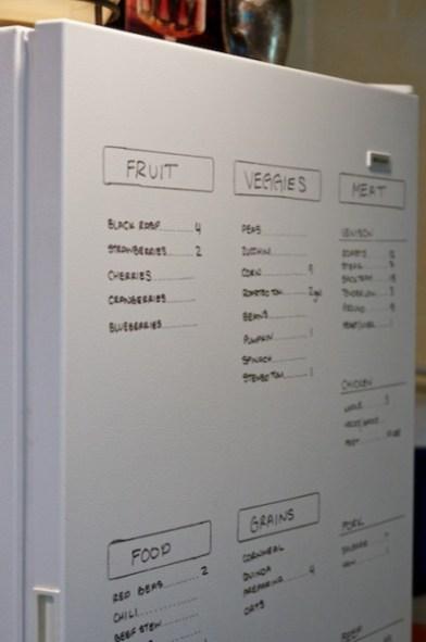 write on fridge