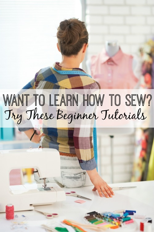 Thanks to the magic of the Internet, there's tons of sewing tutorials for you to learn how to sew in the comfort of your home. Here are a few of them! Want to Learn How to Sew? Try These Beginner Tutorials via tipsaholic.com #sewing #tutorial #sew #beginningsewing #sewingmachine #learntosew