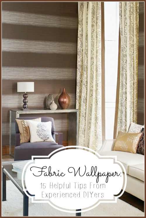 Fabric wallpaper is a great way to decorate the walls in your home! If you want to try using fabric as wallpaper, here are 15 tips for DIY fabric wallpaper! Fabric Wallpaper 15 Helpful Tips From Experienced DIYers at tipsaholic.com #diy #fabric #wallpaper #tips #homedecor #decor