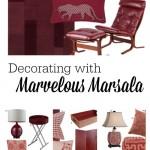 Decorating with Marvelous Marsala at tipsaholic.com