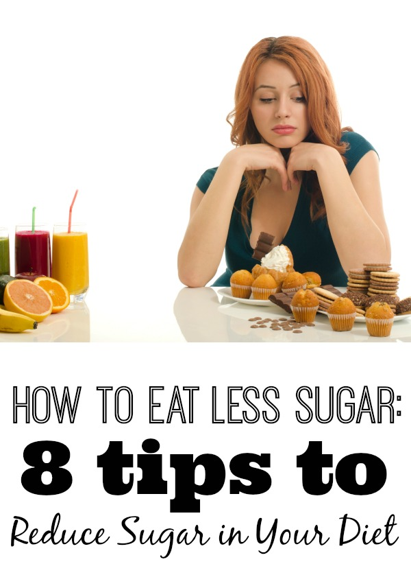 Too much sugar can cause health problems, energy crashes, weight gain, and cavities. Check out these 8 tips on how to reduce sugar in your diet! How to Eat Less Sugar: 8 Tips to Reduce Sugar in Your Diet via tipsaholic.com #health #sugar #snacks #diet #fitness