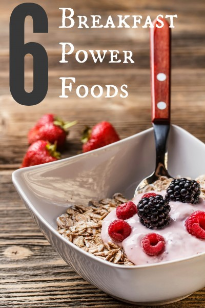 Amp up your energy and keep hunger at bay by starting your day with one (or more!) of these 6 breakfast power foods. 6 Breakfast Power Foods ~ Tispaholic.com #health #breakfast #powerfoods