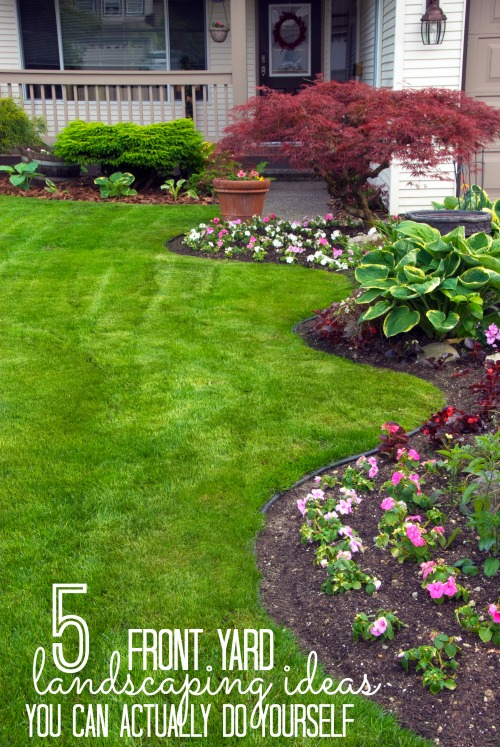 Remodelaholic | 5 Front Yard Landscaping Ideas You Can ... on Backyard Hardscape Ideas  id=13905