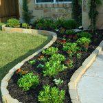 limestone garden edging