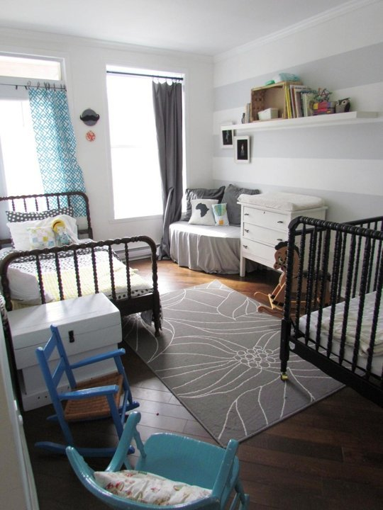 Crib And Twin Bed Shared Room