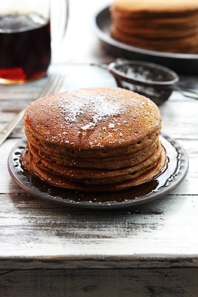 Love to make pancakes on lazy Saturday mornings? Here are 50 amazing pancake recipes to have on hand for your next leisurely breakfast. 50 Delightful Pancake Recipes for Saturday Mornings via @tipsaholic #breakfast #recipes #pancakes #recipe