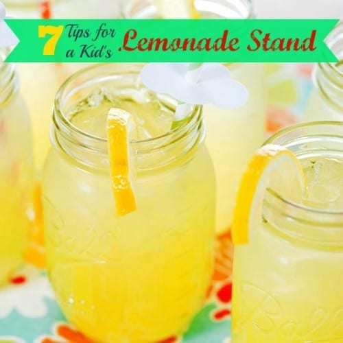 Want to get keep the kids busy this summer and encourage their entrepreneurial spirit? Hosting a lemonade stand would be a great way to do this. 7 Tips for a Kid's Lemonade Stand via @tipsaholic #lemonade #lemonadestand #kids #summerfamilyactivities