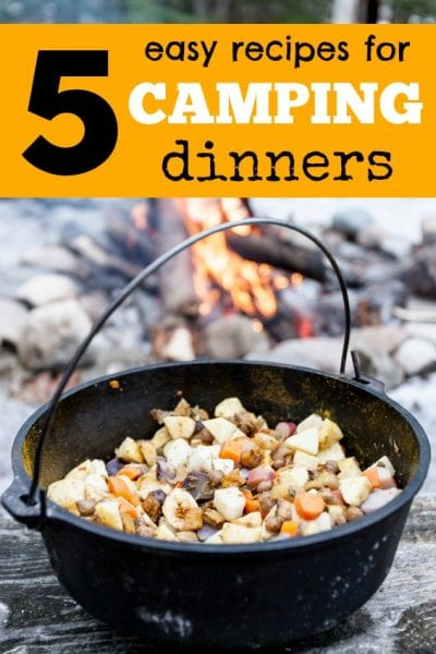 tipsaholic - 5 easy recipes for camping dinners