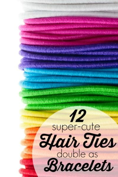 Set of colorful hair bands on white background