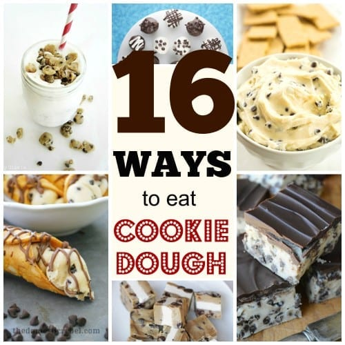 16 Ways to Eat Cookie Dough ~ Tipsaholic.Take your love of chocolate chip cookie dough to the next level with these 16 recipes for cookie dough desserts. 16 Ways to Eat Chocolate Chip Cookie Dough ~ Tipsaholic.com #recipes #cookiedough
