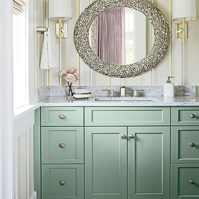 25 Inspiring and Colorful Bathroom Vanities via @tipsholic #bathroom #vanity #colorful #colors #homedecor