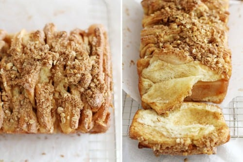 apple cinnamon streusel pull apart bread recipe