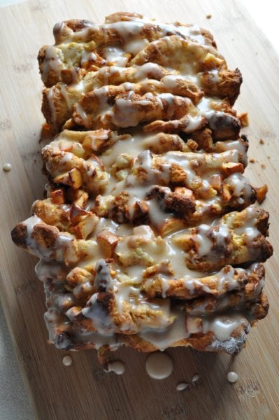 gluten-free apple cinnamon pull apart bread recipe