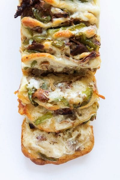 philly cheese steak pull apart bread recipe