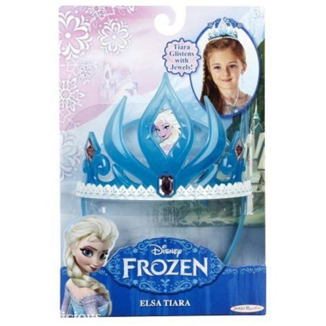 This blue, plastic Elsa crown is still beautiful, although not as durable as the Disney Store versions.  I've heard others tell me that they prefer this blue version and have seen these spray-painted silver or gold for a DIY budget version.  It is currently under $7 on Amazon.com.