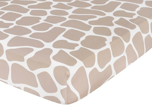 The inspiration room has simple tan sheets (you can get some amazingly soft tan chenille sheets), but I'm loving these simple giraffe print sheets. Don't be afraid to skip the pre-packaged bedding sets. The most amazing crib, toddler, and big kid bed sets are pieced together from separate pieces.