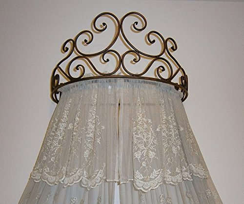 We are loving wall-mount bed canopies at our house, just check out Chloe & Cora's rooms.  These simple hanging drapery holders can be tricky to find and super pricey (many we fond were $300+!), but Amazon.com d