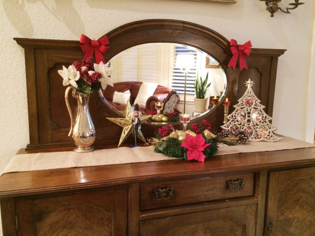 Dollar Tree Store items for entry way festive Christmas decor