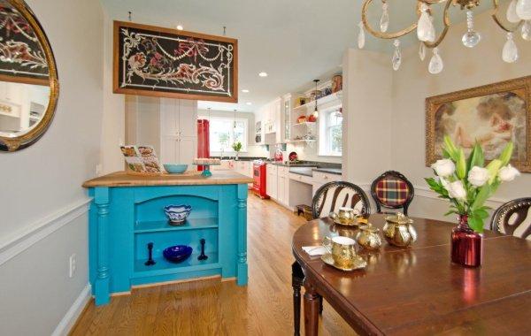 Turquoise Kitchen Island